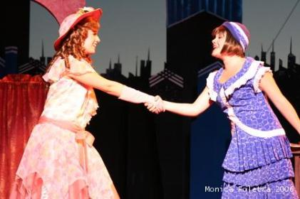 With Natalie Hawkins as Miss Dorothy Brown in Thoroughly Modern Millie