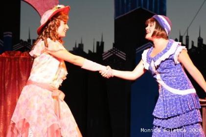 With Natalie Hawkins as Miss Dorothy Brown in Thoroughly Modern Millie